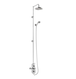 """Burlington Spey Extended Triple Exposed Mixer Shower with Shower Kit + 12"""" Fixed Head BU10708"""