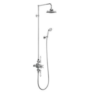 "Burlington Avon Triple Exposed Mixer Shower with Shower Kit + 6"" Fixed Head BU10692"