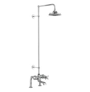 Burlington Tay Bath Shower Mixer with Extended Rigid Riser with Fixed Head BU10715