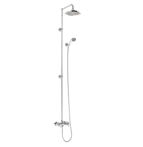 """Burlington Eden Extended Dual Exposed Shower with 12"""" Fixed Head BU10682"""