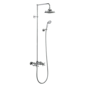 Burlington Eden Dual Exposed Shower Kit, 12inch Fixed Head BU10696