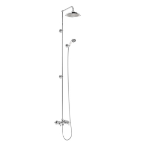 """Burlington Eden Extended Dual Exposed Shower with Shower Kit + 12"""" Fixed Head BU10702"""