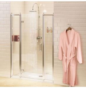 Burlington Traditional Inline Hinged Shower Door, 1400mm Wide, 8mm Glass BU10745