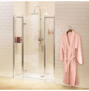 Burlington Traditional Inline Hinged Shower Door, 1100mm Wide, 8mm Glass BU10735