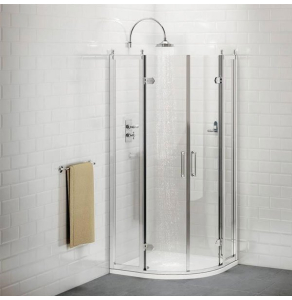 Burlington Traditional Quadrant Shower Enclosure with Tray, 900mm x 900mm, 8mm Glass BU10744