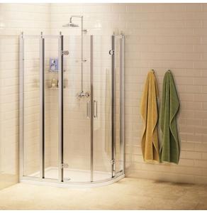 Burlington Traditional Offset Quadrant Shower Enclosure, 1000mm x 800mm, 8mm Glass BU10747