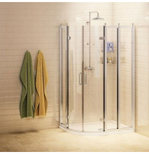 Burlington Traditional LH Offset Quadrant Shower Enclosure, 1000mm x 800mm, 8mm Glass BU10760
