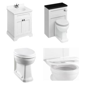 Burlington Furniture Bathroom Suite 670mm Wide Vanity Unit Matt White - 0 Tap Hole BU10863