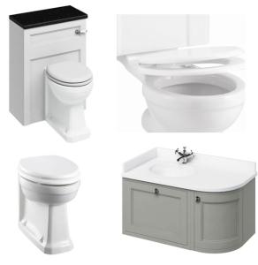 Burlington Furniture Bathroom Suite 980mm Wide LH Vanity Unit Olive - 0 Tap Hole BU10874