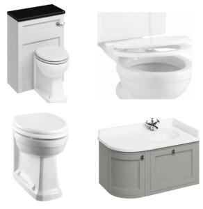 Burlington Furniture Bathroom Suite 980mm Wide RH Vanity Unit Olive - 0 Tap Hole BU10867