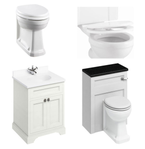 Burlington Furniture Bathroom Suite 670mm Wide Vanity Unit Sand - 0 Tap Hole BU10865