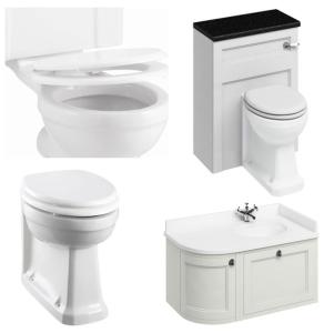 Burlington Furniture Bathroom Suite 980mm Wide RH Vanity Unit Sand - 0 Tap Hole BU10876