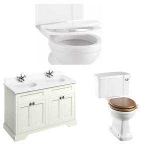 Burlington Furniture Bathroom Suite 1300mm Wide Vanity Unit Sand - 0 Tap Hole BU10869