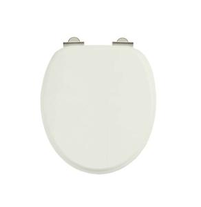 Burlington Standard Moulded Wood Toilet Seat, Soft Close Hinges, Sand BU10829