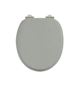 Burlington Standard Moulded Wood Toilet Seat, Soft Close Hinges, Dark Olive BU10828