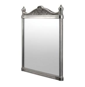 Burlington Traditional Framed Bathroom Mirror, 750mm High x 553mm Wide, Brushed BU10806