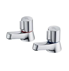 Ideal Standard Alto Bath Pillar Taps (Pair) Chrome - B0350AA IS10592