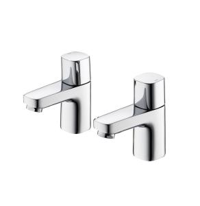 Ideal Standard Tempo Basin Pillar Taps Pair Chrome - B0728AA IS10599