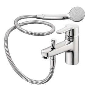Ideal Standard Concept Blue Single Lever Exposed Bath Shower Mixer with Shower Set Chrome - B9990AA IS10576