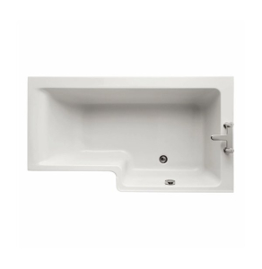Ideal Standard Concept L-Shaped Shower Bath 1500mm X 700mm/850mm Right Handed 0 Tap Hole - E049401 - E049401 IS10340