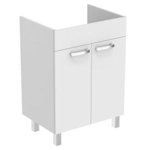 Ideal Standard Tempo 2-Door Vanity Unit with Legs 600mm Wide Gloss White - E3239WG IS10371