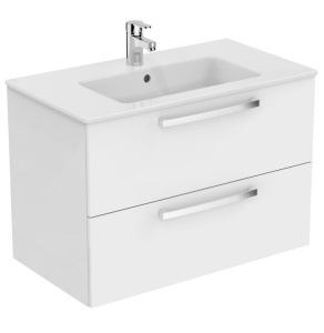 Ideal Standard Tempo 2-Drawer Vanity Unit 800mm Wide Gloss White - E3242WG IS10381