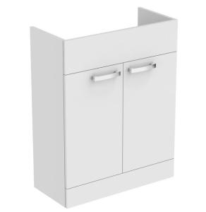 Ideal Standard Tempo 2-Door Semi Countertop Vanity Unit 650mm Wide Gloss White - E3245WG IS10367