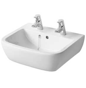Ideal Standard Tempo Washbasin 500mm Wide 2 Tap Holes - T058901 IS10132