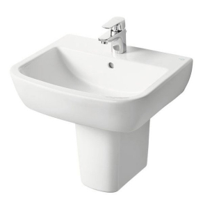 Ideal Standard Tempo Basin and Semi Pedestal 550mm Wide 1 Tap Hole IS10151