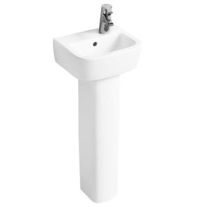 Ideal Standard Tempo Handrinse Basin and Pedestal 350mm Wide Right Hand 1 Tap Hole IS10142