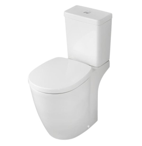 Ideal Standard Concept Freedom Raised Height Close Coupled Toilet Dual Flush Cistern - Soft Close Seat IS10119