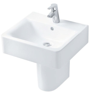 Ideal Standard Concept Cube Basin and Semi Pedestal 500mm Wide 1 Tap Hole IS10220