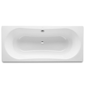 Roca Duo Plus Rectangular Steel Bath with Anti-slip Base 1800mm x 800mm 0 Tap Hole - 221670000 RO10476