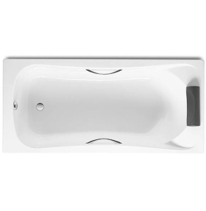 Roca Becool Single Ended Rectangular Bath with Grips and Headrest 1700mm x 700mm 0 Tap hole - 248340001 RO10477