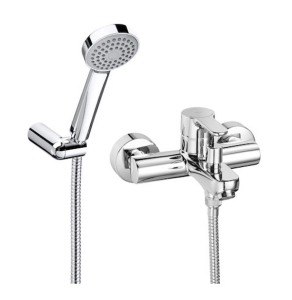 Roca L20 Bath Shower Mixer Tap Wall Mounted with Kit In Chrome - 5A0109C02 RO10549