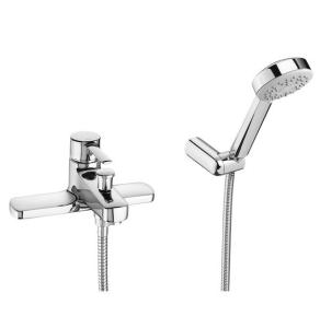 Roca Targa Bath Shower Mixer Tap Deck Mounted with Shower Kit - Chrome - 5A1860C00 RO10599