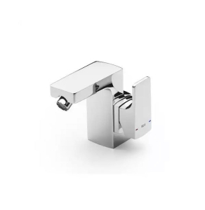 Roca L90 Cold Start Bidet Mixer Tap with Chain Connector Lateral Handle in Chrome - 5A6301C00 RO10591