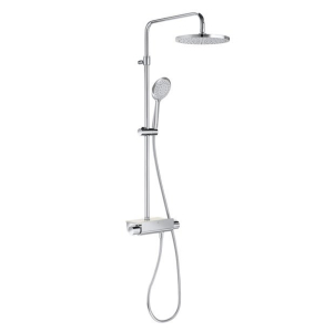 Roca Deck Round Bar Mixer Shower with Shower Kit + Fixed Head - 5A9788C00 RO10615