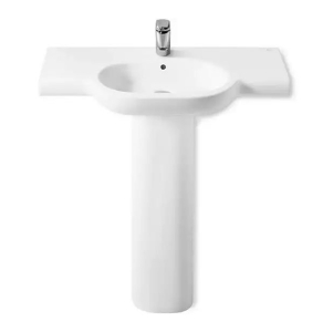 Roca Meridian-N Basin and Full Pedestal, 700mm Wide, 1 Tap Hole RO10141