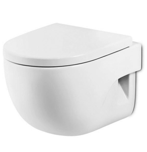 Roca Meridian-N Wall Hung Toilet, 560mm Projection, Soft Close Seat RO10155