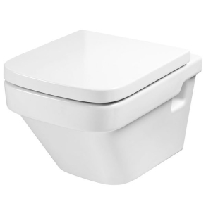 Roca Dama-N Wall Hung Toilet, 570mm Projection, Soft Close Seat RO10096