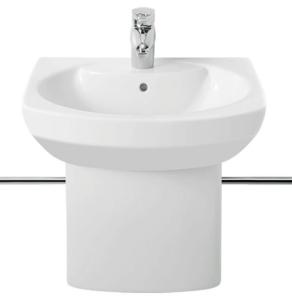 Roca Senso Compact Basin and Semi Pedestal, 550mm Wide, 1 Tap Hole RO10238