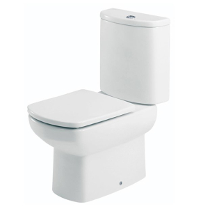 Roca Senso Close Coupled Toilet with Dual Outlet Push Button Cistern, Soft Close Seat RO10259