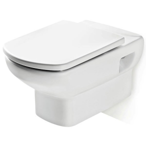 Roca Senso Wall Hung Toilet, 555mm Projection, Standard Seat RO10256