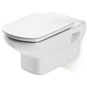Roca Senso Wall Hung Toilet, 555mm Projection, Soft Close Seat RO10258