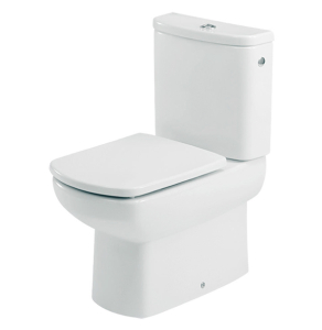 Roca Senso Compact Eco Close Coupled Toilet with Dual Outlet Push Button Cistern, Soft Close Seat RO10262
