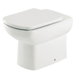 Roca Senso Compact Back to Wall Toilet, 555mm Projection, Soft Close Seat RO10249
