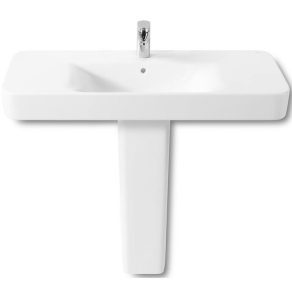 Roca Senso Square Basin and Full Pedestal, 850mm Wide, 1 Tap Hole RO10250