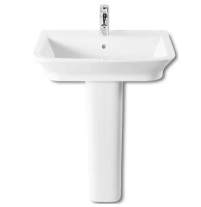 Roca The Gap Basin and Full Pedestal, 600mm Wide, 1 Tap Hole RO10021