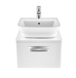 Roca The Gap 1-Drawer Bathroom Vanity Unit with Basin 500mm W - Gloss White RO10373